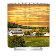 The Golden Ranch Shower Curtain