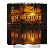 The Golden Temple Is Reflected Shower Curtain