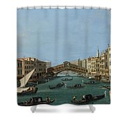 The Grand Canal Shower Curtain by Antonio Canaletto