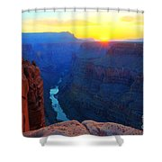 The Grand Canyon Solitude At Toroweap Shower Curtain