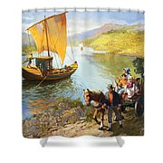 The Grape-pickers Of Portugal Shower Curtain