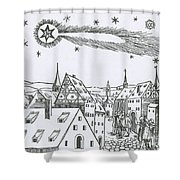 The Great Comet Of 1556 Shower Curtain