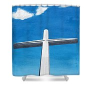 The Great Cross - Risen Shower Curtain