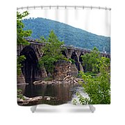 The Great Old Bridge Shower Curtain