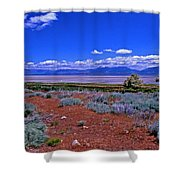 The Great Salt Lake From Antelope Island Shower Curtain