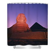 The Great Sphinx Is Illuminated Shower Curtain