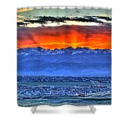 The Great Sunset Shower Curtain