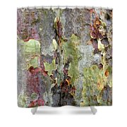 The Green Bark Of A Tree Shower Curtain