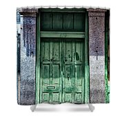The Green Door In The French Quarter Shower Curtain