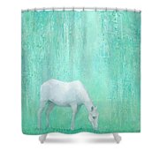The Green Glade Shower Curtain
