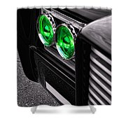 The Green Hornet - Black Beauty Close Up Shower Curtain