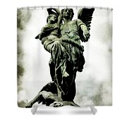 The Guardian Angel Shower Curtain