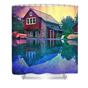The Guest Cottage Shower Curtain by Kevyn Bashore