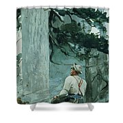 The Guide Shower Curtain by Winslow Homer