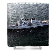The Guided-missile Destroyer Uss Laboon Shower Curtain