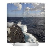 The Guided-missile Destroyer Uss Nitze Shower Curtain