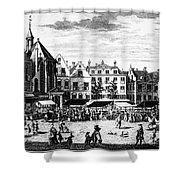 The Hague: Market, 1727 Shower Curtain