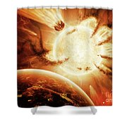 The Hand Of Destiny Nebula Is Devouring Shower Curtain