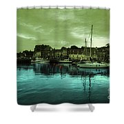 The Harbour At Padstow Shower Curtain