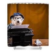 The Hard Boiled Journalist Shower Curtain