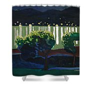 The Hardanger Fjord By Night. Shower Curtain