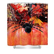 The Harvest Spider Shower Curtain