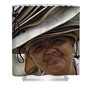 The Hat Lady Costa Rica Shower Curtain