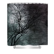The Haze Of The Moon Shower Curtain