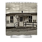 The Heart Of Glady Sepia Shower Curtain