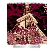 The Heart Of Paris - Digital Painting Shower Curtain