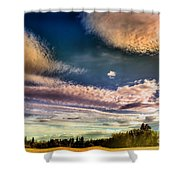 The Heavy Clouds Shower Curtain