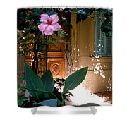 The Hibiscus Greeter Shower Curtain