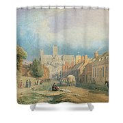 The High Street Lincoln  Shower Curtain