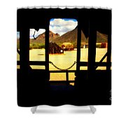The Hills In Old Tuscon Az Shower Curtain