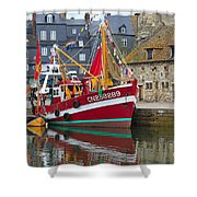 The Historic Fishing Village Of Honfleur Shower Curtain