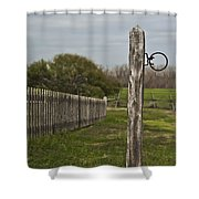 The Hitching Post Shower Curtain