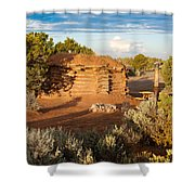 The Hogan Where  We Stayed Canyon Dechelly Nps Shower Curtain