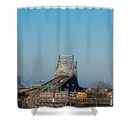 The Horace Wilkinson Bridge Over The Mississippi River In Baton Rouge La Shower Curtain