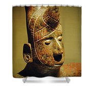 The Horned Warrior Shower Curtain