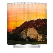The Horse Barn Shower Curtain