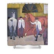 The Horse Mart  Shower Curtain by Robert Polhill Bevan