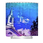 The House Of Men Under The House Of God Shower Curtain