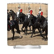 The Household Cavalry Performs Shower Curtain