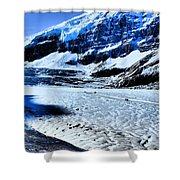 The Ice Fields Shower Curtain