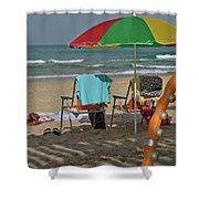 The Idyll On The Mediterranean Shore Shower Curtain