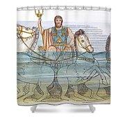 The Iliad: Neptune, 1805 Shower Curtain