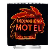 The Indianhead Shower Curtain