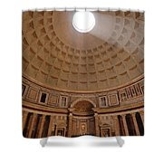 The Inside Of The Pantheon Shower Curtain