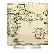 The Islands Of Guadeloupe Shower Curtain