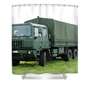 The Iveco M250 Used By The Belgian Army Shower Curtain